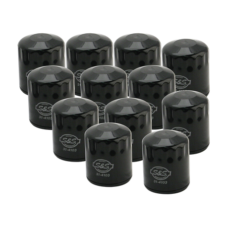 12 Pack of Black Oil Filter for 1999-'16 HD<sup>®</sup> Big Twins & X-Wedge<sup>™</sup>