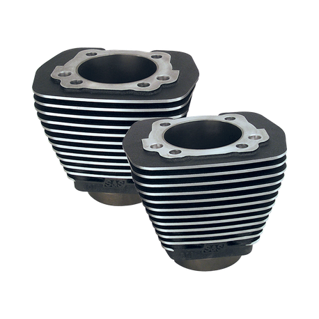 "3-5/8"" Bore Cylinders for 1984-'99 Big Twins with 88"" Engines with Stock Heads - Wrinkle Black"