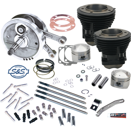 "96"" Sidewinder<sup>®</sup>  Big Bore Stroker  Kit for 1970-'84 HD<sup>®</sup> Big Twins - GlossBlack Finish"