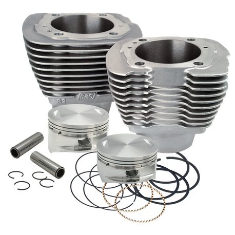 "4"" Bore Cylinder and Piston Kit for S&S<sup>®</sup> SB100 Engine for 1986-'03 HD<sup>®</sup> Sportster<sup>®</sup> and 1994-'02 Buell<sup>®</sup> Models - Natural Aluminum Finish"