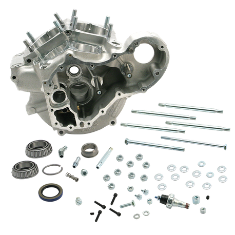 "Super Stock<sup>®</sup> Alternator/Generator Style Crankcases for 1948-'84 Custom Big Twins with 3 5/8"" Bore - Natural"