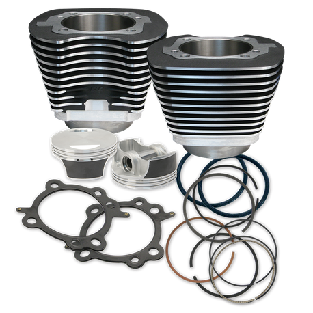 "106""'' Big Bore Cylinder Kit for 2007-'17 HD<sup>®</sup> Big Twins (except '17 touring) - Wrinkle Black Powder Coat Finish"