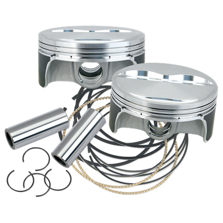 "S&S<sup>®</sup> Forged Piston Sets for S&S<sup>®</sup> X-Wedge<sup>®</sup> Engines - +.010"" 128"""