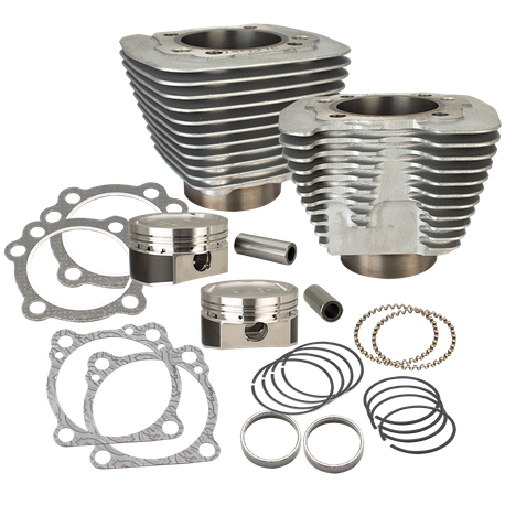 883 to 1200cc Conversion Kit for 1986-2017 HD<sup>®</sup> Sportster<sup>®</sup> Models - Silver Finish