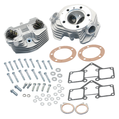"S&S<sup>®</sup> Super Stock<sup>®</sup> 3-5/8"" Bore O-Ring  Style Single Plug Cylinder Head Kit For 1966-'78 HD<sup>®</sup> Big Twins - Natural Aluminum Finish"
