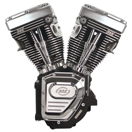 T124 Long Block Engine for 1999-2006 (except 2006 Dyna<sup>®</sup>) with 585 Cam - Wrinkle Black