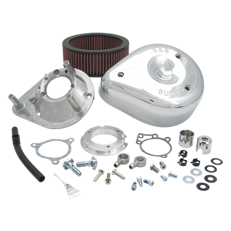 S&S<sup>®</sup> Teardrop Air Cleaner Kit for 2008-'16 HD<sup>®</sup> Touring Stock-Bore Throttle By Wire and '16 Softail<sup>®</sup> (except Tri-Glide<sup>®</sup> & CVO<sup>®</sup>) Models - Chrome