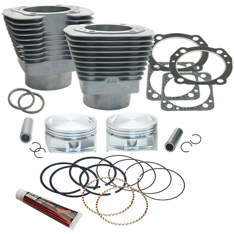 "113"" 4"" Bore Cylinder and Piston Kit For S&S V113 Engines For 1984-'99 Big Twins - Natural Aluminum FInish"