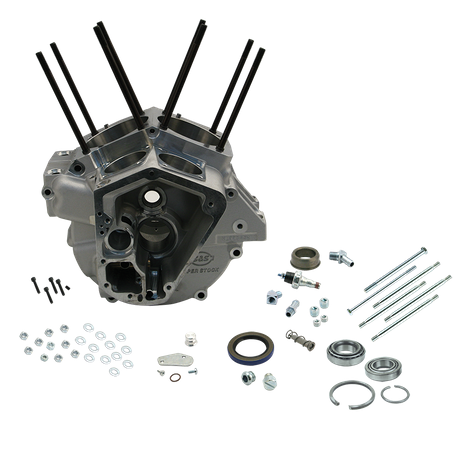 "Super Stock<sup>®</sup> Alternator Style Crankcase for 1992-'99 Big Twins with 3-5/8"" Bore - Natural"