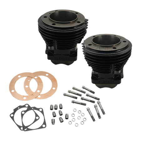 "3-5/8"" Bore Cylinder Set for 1966-'84 Big Twins  W/S&S 103"" Sidewinder Kit and SH103 Engines - Gloss Black"