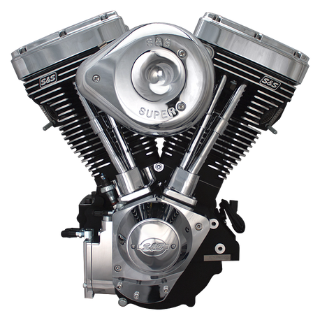 V124 Complete Assembled Engine - Wrinkle Black