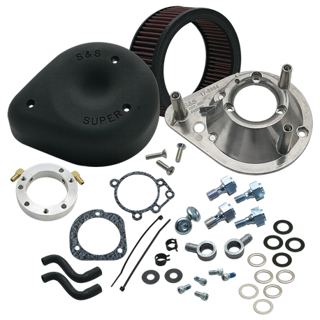 S&S<sup>®</sup> Teardrop Air Cleaner Kit For 1993-'06 HD<sup>®</sup> Big Twins with Stock CV carburetors  - Wrinkle Black
