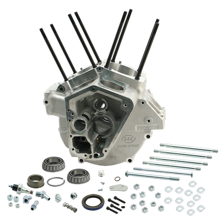 Super Stock<sup>®</sup> Alternator Style Crankcase for 1992-'99 Big Twins with Stock Bore - Natural