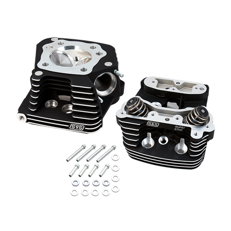 "S&S<sup>®</sup> Super Stock<sup>®</sup> Cylinder Head Kit For 3-1/2"" and 3-5/8"" Bore HD<sup>®</sup> 1984-'99 Big Twins -Wrinkle Black Powder Coat Finish"