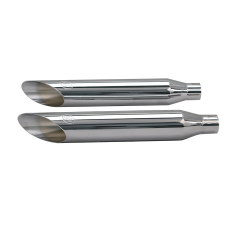 Slash-Cut Muffler Kit for 1995-'16 HD<sup>®</sup> Dyna<sup>®</sup> Models - Chrome (except 2008-'16 HD<sup>®</sup> Fat Bob<sup>®</sup> and 2010-'16 HD<sup>®</sup> Wide Glide<sup>®</sup> Mod