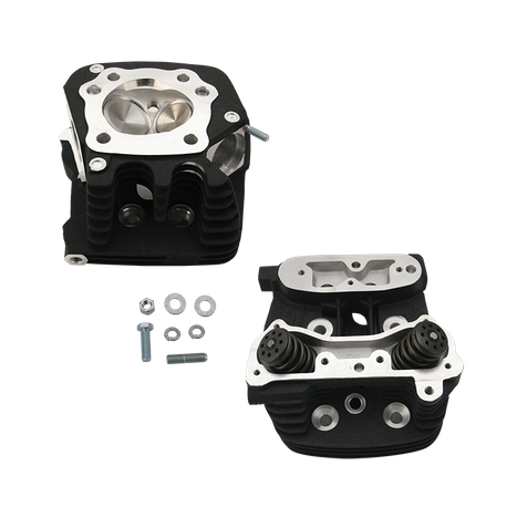 "S&S<sup>®</sup> Super Stock<sup>®</sup> Cylinder Head Kit For 3-1/2"" and 3-5/8"" Bore 1986-'90 HD<sup>®</sup> Sportster Models - Wrinkle Black Powder Coat Finish"