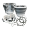 "Replacement 3-7/8"" Bore Cylinder & Piston Kit For S&S 95"" Big Bore Kits For 1999-'06 Big Twins - Silver Power Coat Finish"