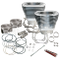 "4 1/8"" Bore Cylinder and Piston Kit for 124"" Hot Set Up Kit<sup>®</sup> with S&S Heads For 1999-'06 big twins - Silver Powder Coat FInish"