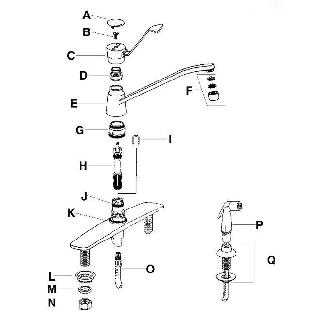Kitchen Deck Single Lever Models 7300 7305 7310 Best Plumbing Specialties