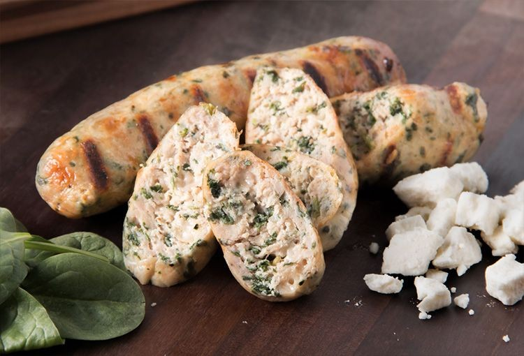 Chicken Sausage with Feta Cheese & Spinach