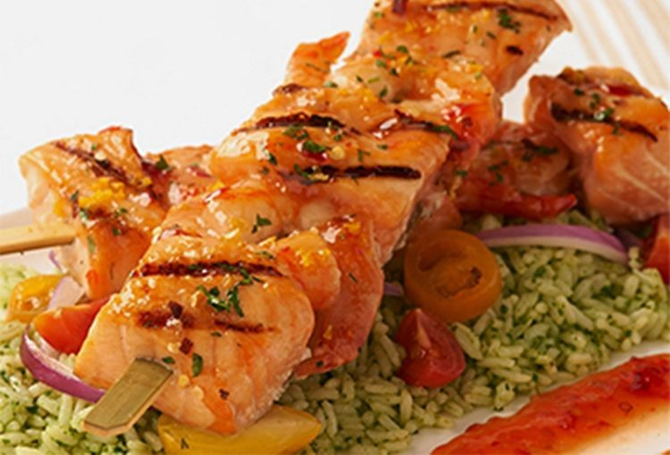 Salmon & Shrimp Kabobs